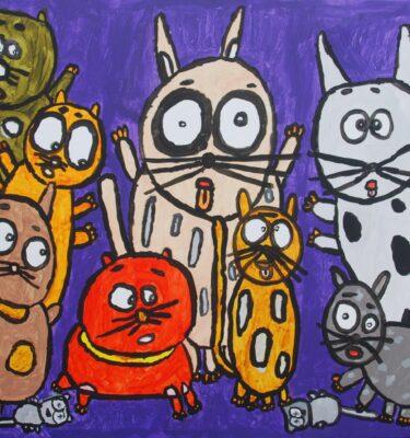 Picassovis, Jaïr Maarsen, kunst, katten