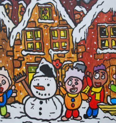 Sneeuwpop 50x60cm_mini
