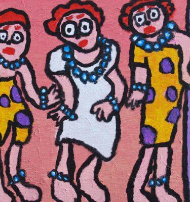 Vrouwen die paaldansen 40x50cm_mini