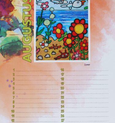 kalender Picassovis augustus Jaïr Maarsen schilderijen