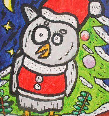 kerstuil-kijkt-naar-de-maan-en-sterren-70x50cm_mini