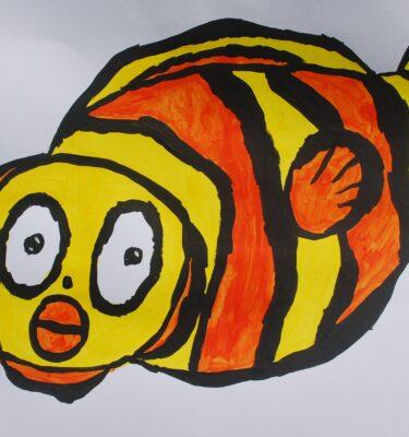 Picassovis, Jaïr Maarsen, kunst, sticker, zeedieren, clownvis
