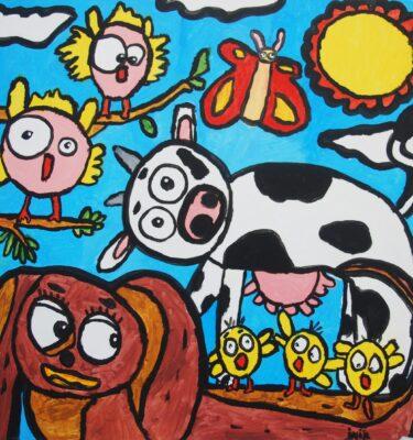 Jaïr Maarsen, Picassovis, Lente, boerderij, kunst