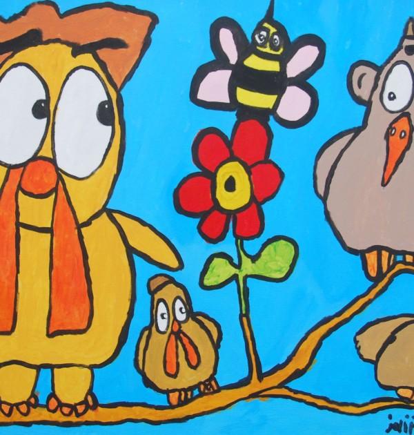 Picassovis, Jaïr Maarsen, kunst, lente, dieren, kippen