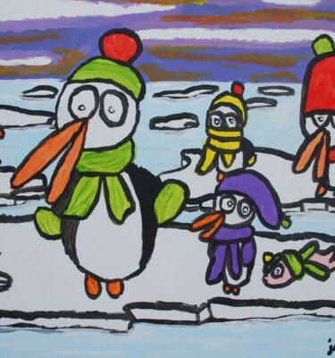 Picassovis, Jaïr Maarsen, kunst, winter, ;pinguins