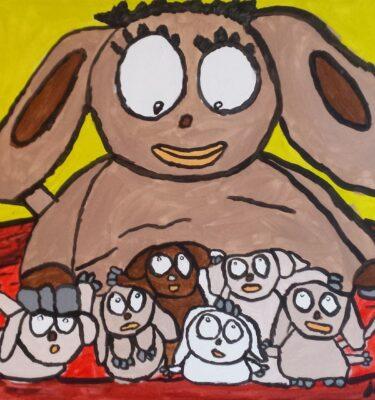 Picassovis, Jaïr Maarsen, kunst, honden, puppies