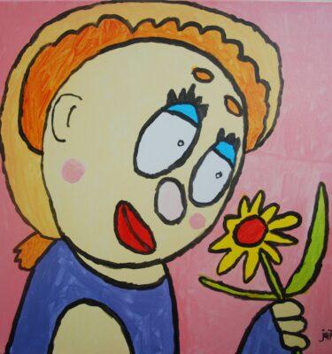 Jaïr Maarsen, Picassovis, meisje, bloem, kunst